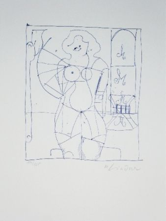 Lithograph Lindner - Marylin was here 13