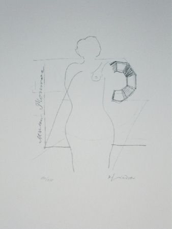 Lithograph Lindner - Marylin was here 14