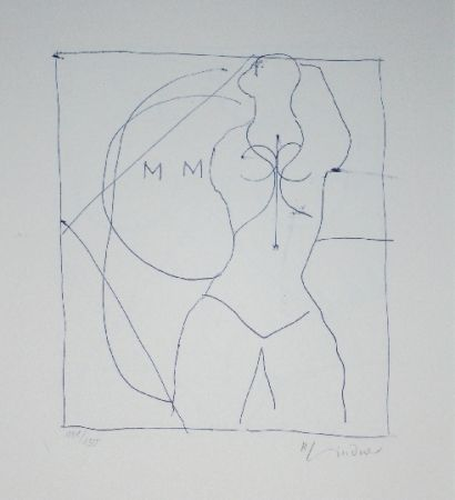 Lithograph Lindner - Marylin was here 16