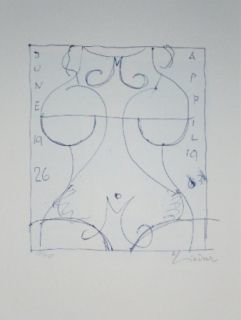 Lithograph Lindner - Marylin was here 17