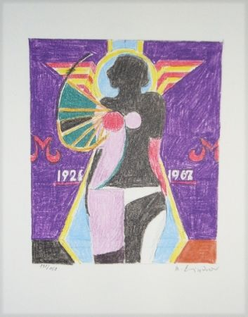 Lithograph Lindner - Marylin was here 2