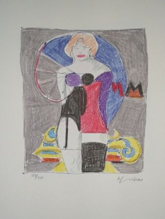 Lithograph Lindner - Marylin was here 3