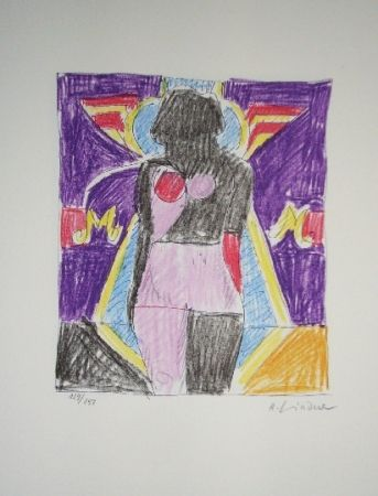 Lithograph Lindner - Marylin was here 4
