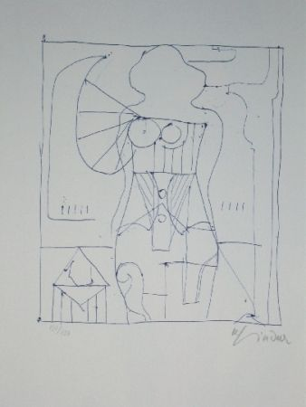 Lithograph Lindner - Marylin was here 7
