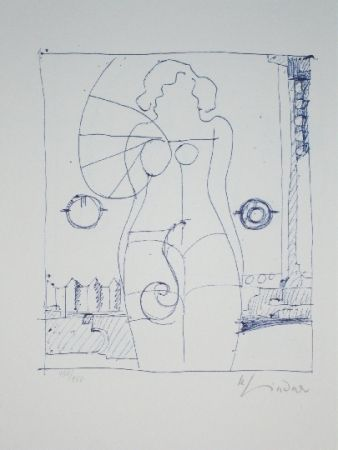 Lithograph Lindner - Marylin was here 8