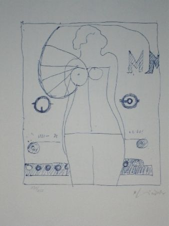 Lithograph Lindner - Marylin was here 9