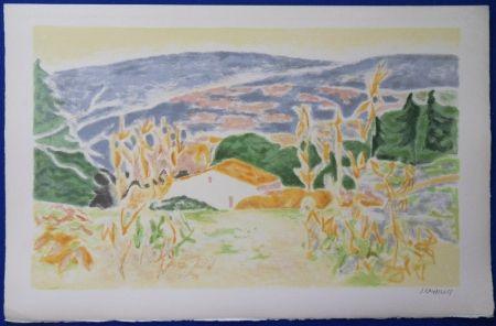Lithograph Cavailles - Mas en Provence