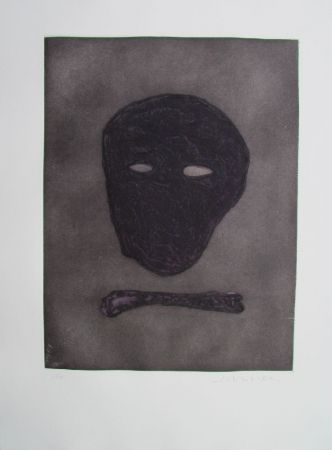 Etching Scholder - Mask Of The Artist