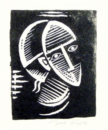 Linocut Capek - Maske (Mask)