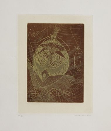 Etching And Aquatint Ernst - Masque