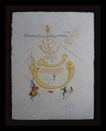 Etching Dali - Masque de la Mort