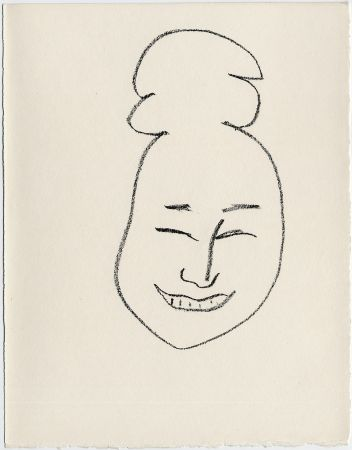 Lithograph Matisse - Masque esquimo n° 4. 1947  (Pour Une Fête en Cimmérie)