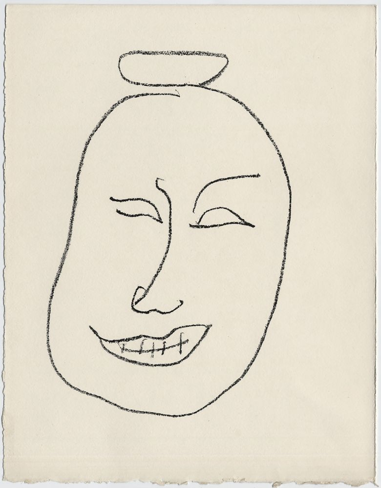 Lithograph Matisse - Masque esquimo n° 8. 1947 (Pour Une Fête en Cimmérie)