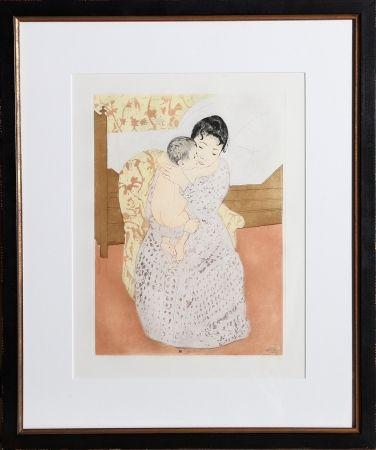 Etching Cassatt - Maternal Caress