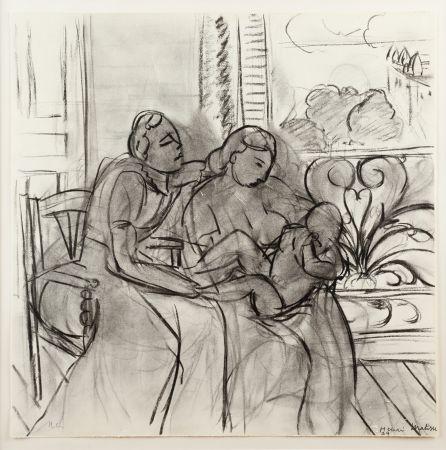 Lithograph Matisse - Maternidad