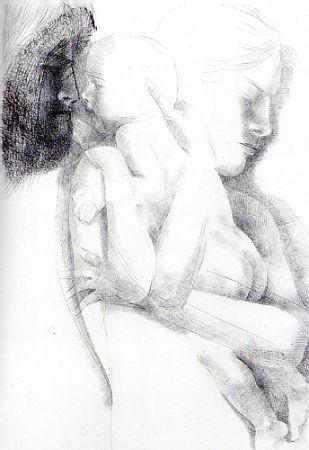 Etching Greco - Maternità (o Maternità con apparizione)