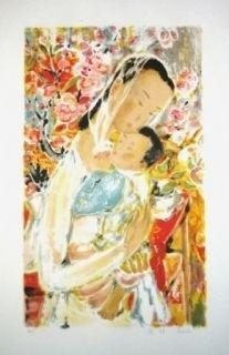 Lithograph Lê Phô - Maternité
