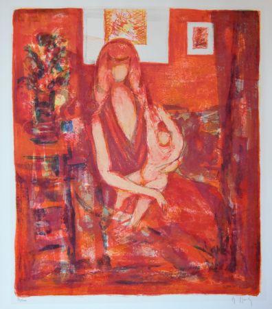 Lithograph Mouly - Maternité