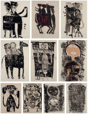 Lithograph Dubuffet - MATIÈRE ET MÉMOIRE ou les lithographes à l'école.