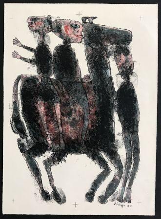Lithograph Dubuffet - Matiere et Memoire (ou les lithographes a l'ecole)