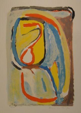 Lithograph Van Velde - Matin / Morning