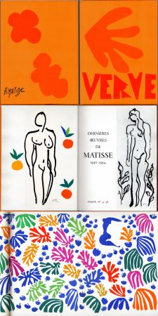 Illustrated Book Matisse - Matisse dernières oeuvres 1950 - 1954 (VERVE Vol. IX, No. 35-36. 1958)