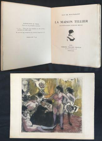Illustrated Book Degas - Maupassant: LA MAISON TELLIER. Illustrations d'Edgar Degas (1934).