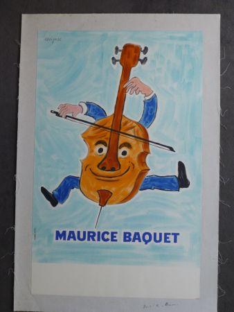 Poster Savignac - Maurice Baquet violonceliste