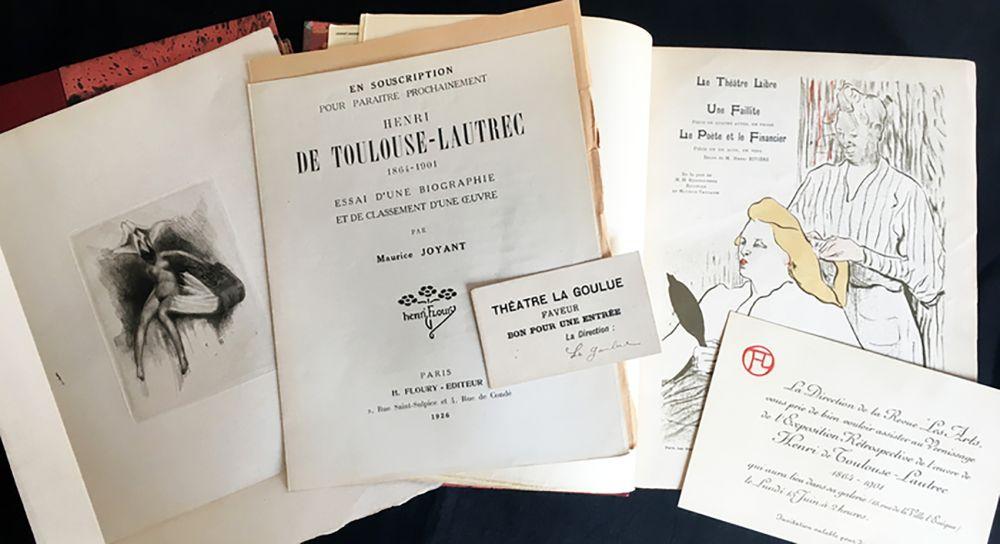 Illustrated Book Toulouse-Lautrec - Maurice Joyant. HENRI DE TOULOUSE-LAUTREC, 1864-1901. [Vol. 1] Peintre - [Vol. 2] Dessins-Estampes-Affiches. (Exemplaire sur Japon avec suites et pièces ajoutées)