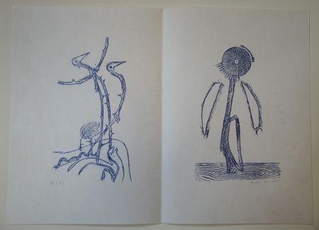 Illustrated Book Ernst - Max Ernst - Jean Tardieu. 24 Frottagen