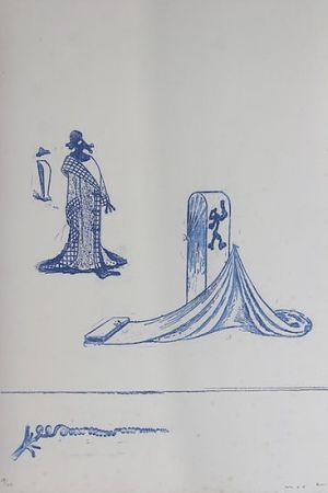 Lithograph Ernst - Max Ernst (1891-1976). Décervelages, Jarry. 1971. Signé