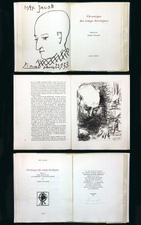 Illustrated Book Picasso - Max Jacob : CHRONIQUE DES TEMPS HÉROÏQUES. Gravures et lithographies originales (1956).