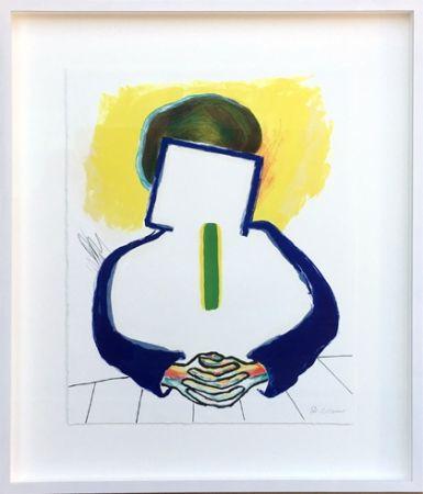 Lithograph Raveel - Meditatie