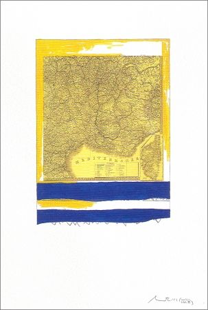 Lithograph Motherwell - Mediterranean (State II Yellow)