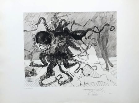Etching Dali - Medusa
