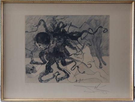 Etching And Aquatint Dali - Medusa