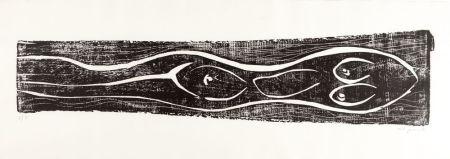 Woodcut Penck - Meer (Sea)