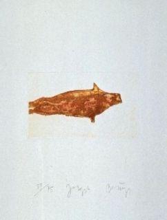 Etching And Aquatint Beuys - Meerengel Robbe II