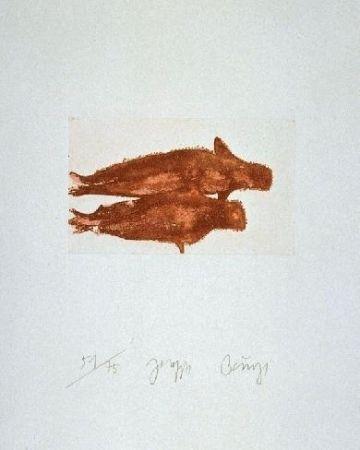 Etching And Aquatint Beuys - Meerengel Zwei Robben