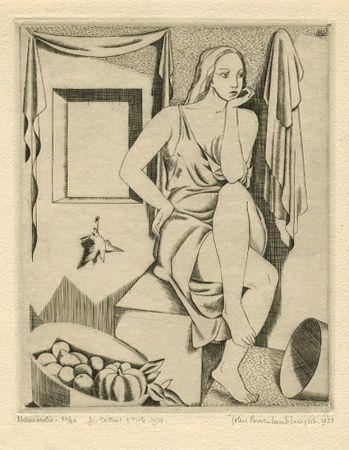 Engraving Buckland-Wright - Melancholie