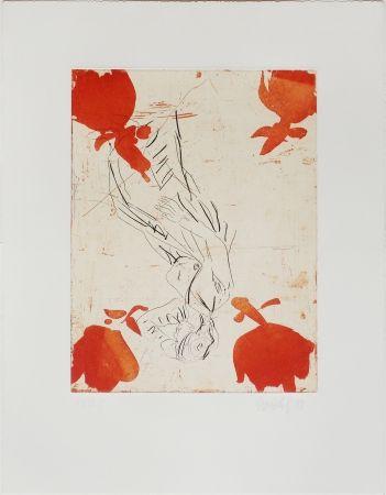 Engraving Baselitz - Melancholie, Vier Rosen