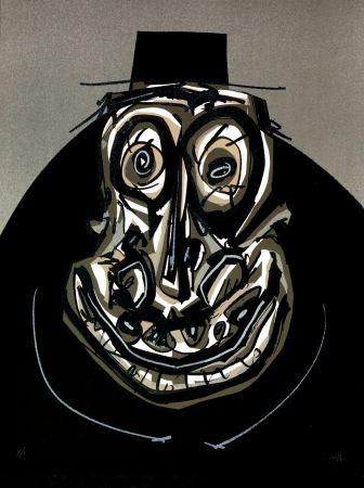 Lithograph Saura - Melanchton I, Une chaire d'ombre