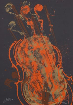 Lithograph Arman - Melody for strings