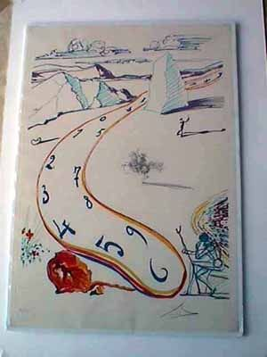 Etching Dali - Melting Space Time