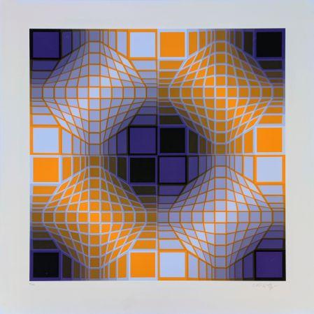 Screenprint Vasarely - Mely