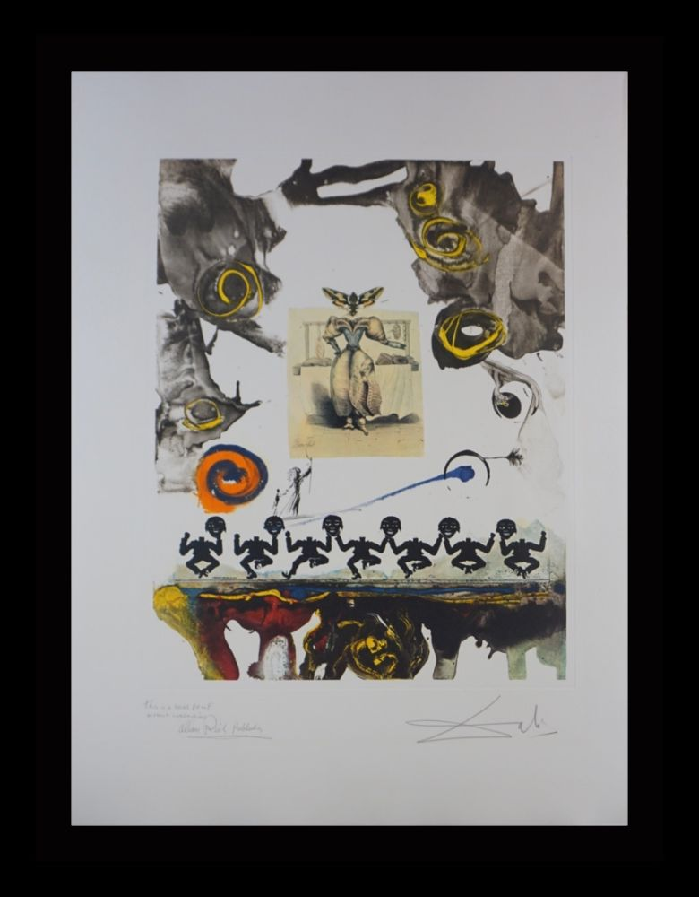Etching Dali - Memories of Surrealism Surrealist Gastronomy Trial Proof