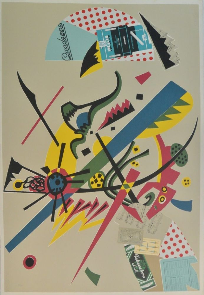 Screenprint Valdés - Menina Kandinsky