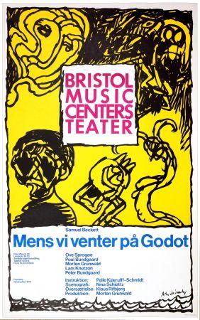 Poster Alechinsky - Mens vi venter på Godot, 1976