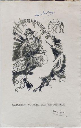 Lithograph Van Dongen - Menu