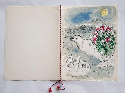 Lithograph Chagall - Menu du Diner du 5 Janvier 1978